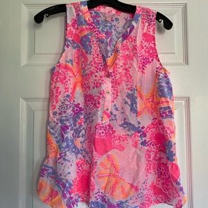 Lilly Pulitzer silk tank top